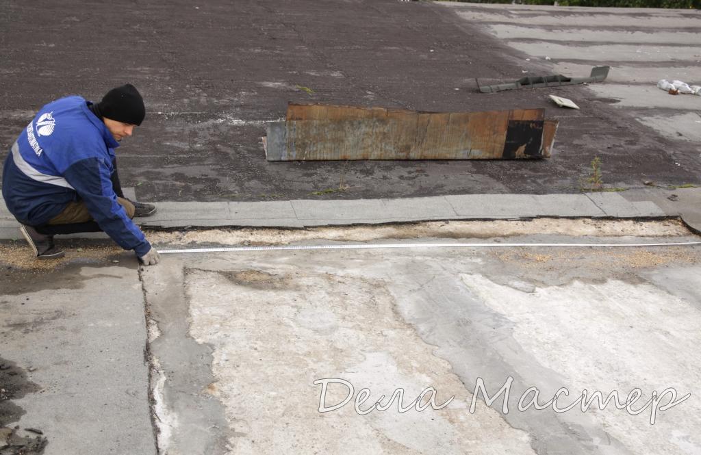 Стяжка на крыше подсохла