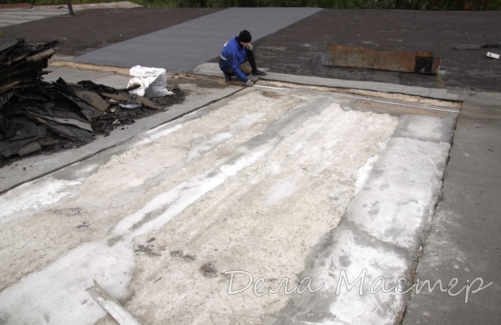 Делаем замер крыши гаража