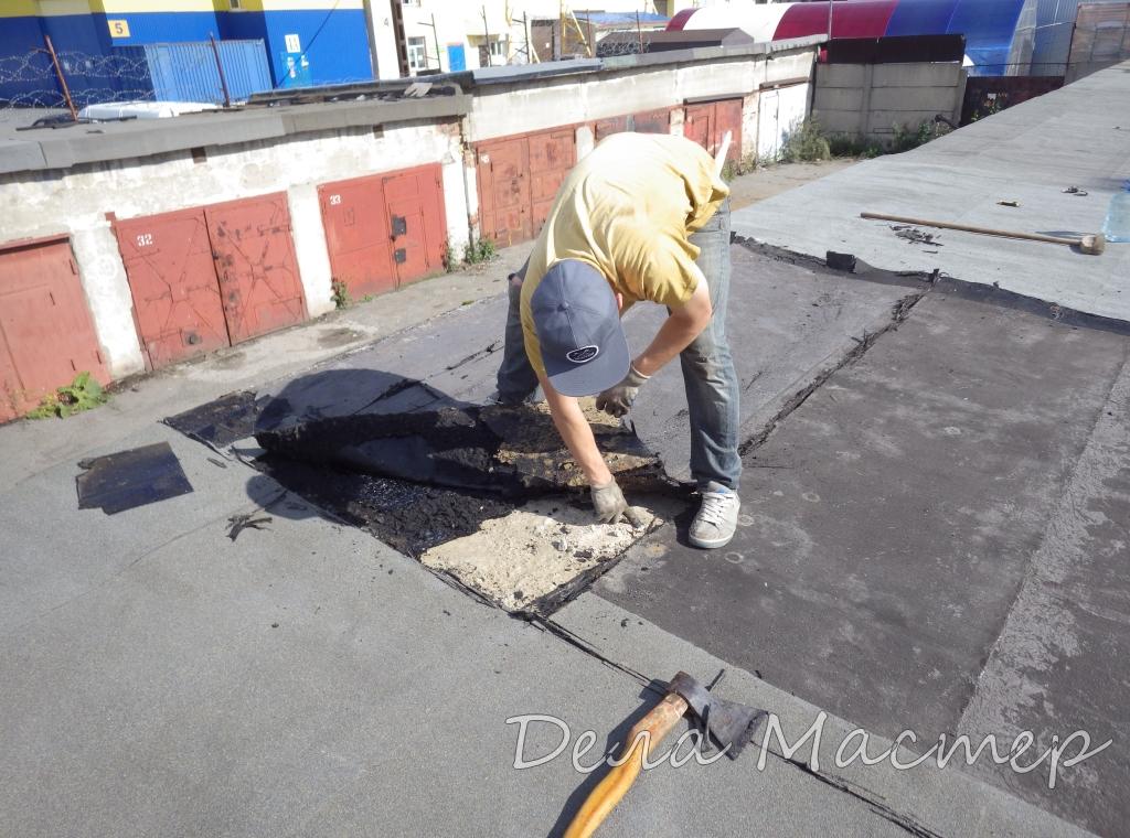 Покрыть крышу гаража гидроизолом своими руками 74