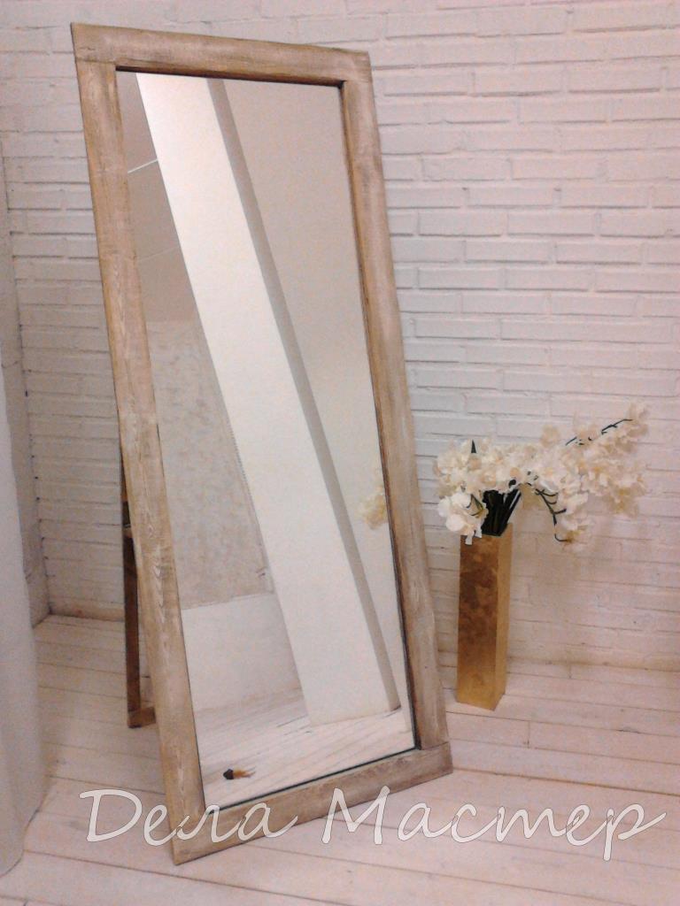 Зеркало с подставкой с эффектом состаривания