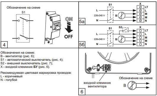 блок управления бытовым вентилятором БУ-1-60