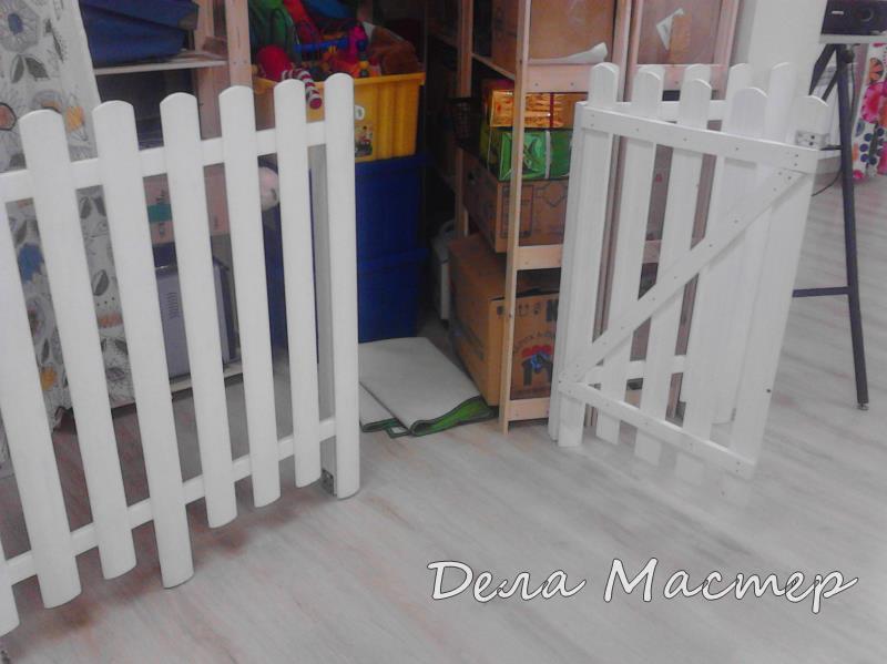 Детский забор белый