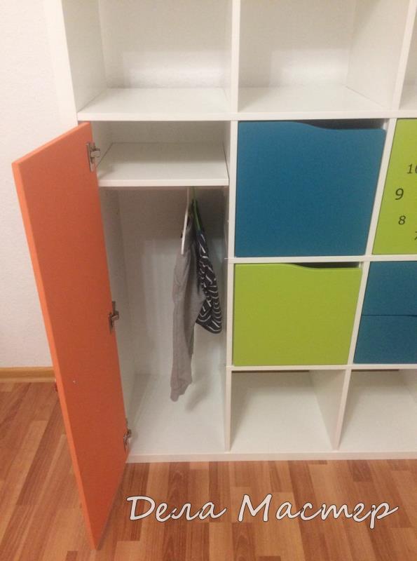 Детский шкафчик для одежды своими руками