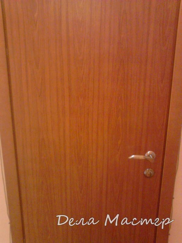 Ремонт полотна двери пленка