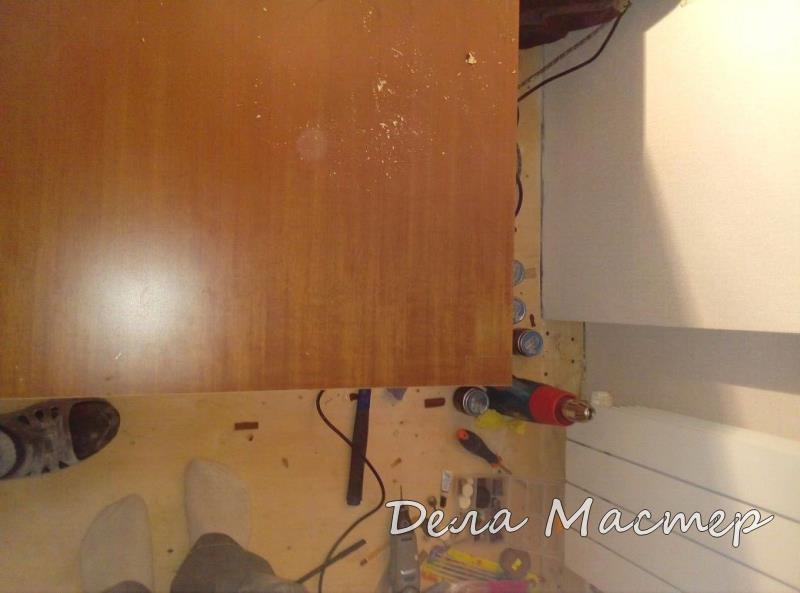 Реставрация шпона на двери