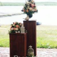 Подставки тумбочки для цветов на свадьбу