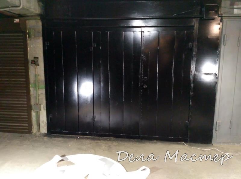 ВОт такие черные ворота гаража у меня получились